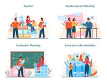 Teacher Concept Set. Profesor ...
