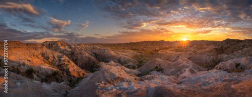 South Dakota Sunset Panorama Fototapeta