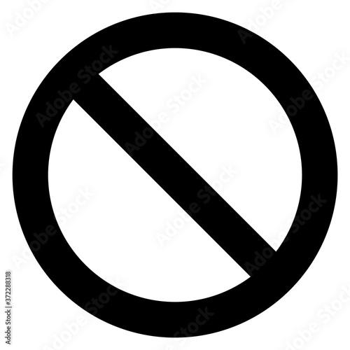 Fototapeta General prohibition sign, modern round sticker