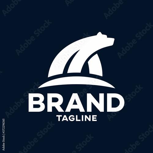 Obraz na plátně Modern polar bear logo.Vector illustration.