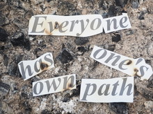 An Inscription Made Of Cut Words. Proverb. Everyone Has One's Own Path.
