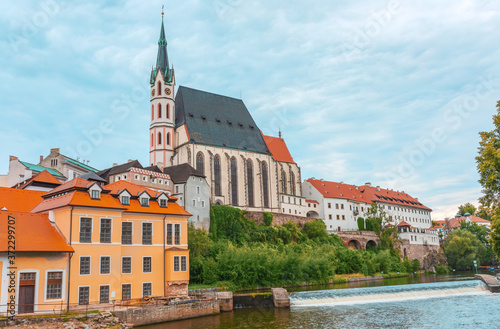 St Vitus church in the middle of historical city centre Canvas Print