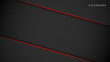 Abstract Metallic Red Black Background, Wallpaper, Frame, Layout. With Blank Space. Design Vector Modern Simple Premium. EPS10