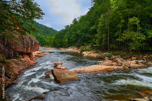 Rapids on Wilson Creek in North Carolina. Canvas