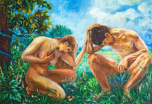 Adam And Eve. Picture Painting...
