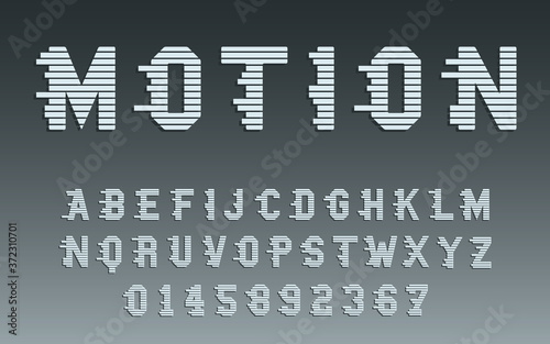 Leinwand Poster Motion alphabet template