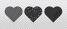 Set Of Hearts Of Different Sha...
