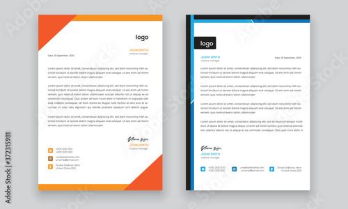 Fototapeta Simple creative modern letter head templates for your project design, Vector illustration. obraz