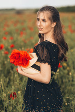 The Girl In The Red Poppy Field