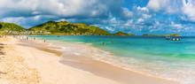 A Panorama View Along Orient Beach In St Martin