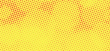 Simple Yellow And Red Pop Art Texture. Retro Background