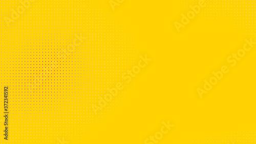 Fotografie, Obraz Dots halftone orange yellow color pattern gradient texture with technology digital background