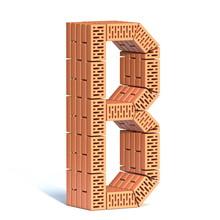 Brick Wall Font Letter B 3D