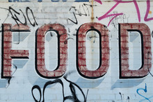 The Word FOOD Painted On Wall