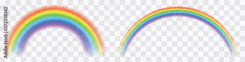 Fototapeta Realistic colorful rainbow