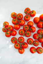 Fresh Red Tomatoes On Vine