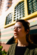 Young Woman With Glasses.