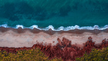 Rugged Beach From Above