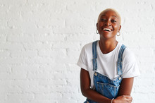 Stylish Young Woman Laughing