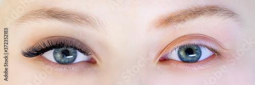 Eyelash extensions Fototapet