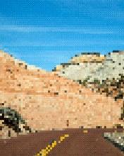 Glitch 8 Bit Road Travel