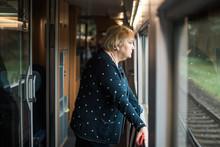 Elder Lady On The Train