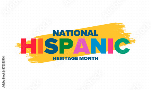 Fotografiet National Hispanic Heritage Month in September and October