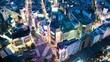都市夜景空撮 タイムラプス