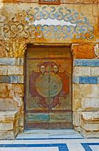 The Old Arabic Door With Fine Patterns, Al Nasir Muhammad Complex, Cairo, Egypt