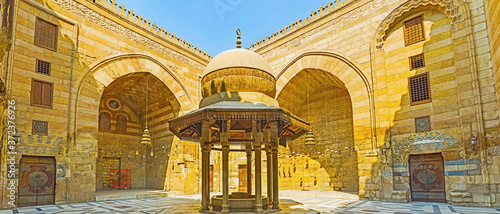 The medieval ablution fountain in Al Nasir Muhammad complex, Cairo, Egypt Wallpaper Mural