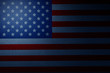 American flag with a dark background