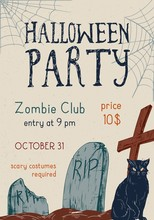 Halloween Theme Party Announce...
