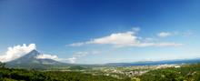 Panorama Legazpi City With Mayon Volcano