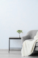 Soft Armchair And Table Near L...