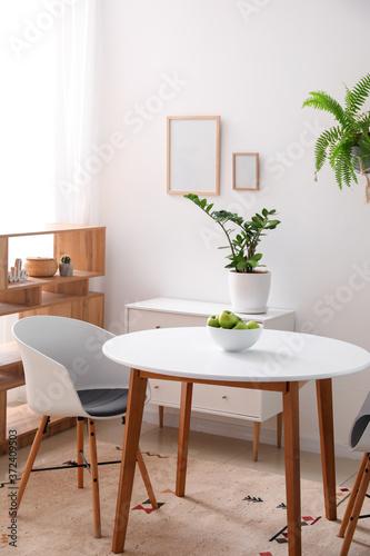 Fototapeta Interior of modern stylish dining room obraz na płótnie