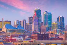 View Of Kansas City Skyline In Missouri