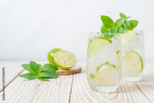 Fototapeta iced lime soda with mint