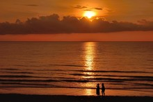 The Seaside Scenery And Humani...