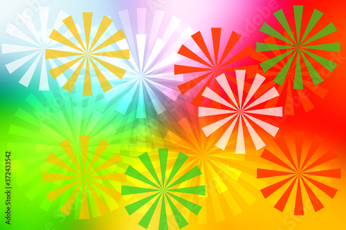 Abstract fresh vivid multicolored fantasy rainbow background summer texture with rainbow pinwheels Slika na platnu
