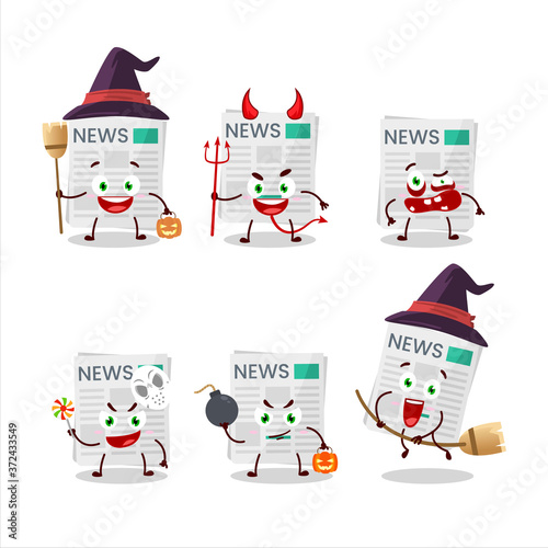 Valokuva Halloween expression emoticons with cartoon character of medical payment