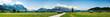Leinwanddruck Bild - landscape at the wetterstein mountains