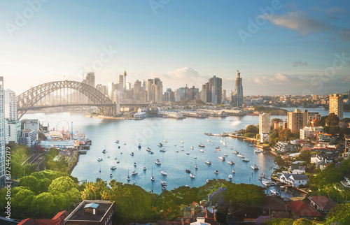 Canvas Print sunrise,  Sydney harbor, New South Wales, Australia