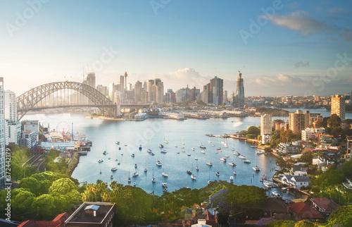 sunrise,  Sydney harbor, New South Wales, Australia Wallpaper Mural