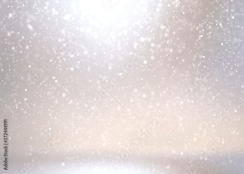 Fotografie, Obraz Winter exterior designer light glow background