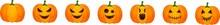 Set Of Halloween Pumpkins, Fun...