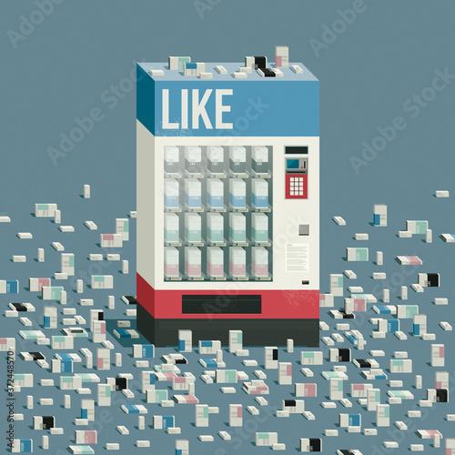 Obraz Vending machine selling likes - fototapety do salonu