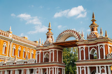 Tsaritsyno Park. Grand Palace Of Queen Catherine In Moscow, Russia