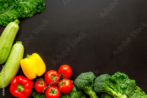 Fotografia Fresh colorful organic vegetables - farming and healthy food, top view