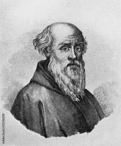 Fotomural Guido of Arezzo, was an Italian music theorist in the old book Biographies of famous composers by A