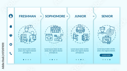 Students onboarding vector template Canvas-taulu